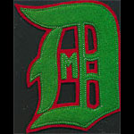 D M Logo Script Red Green Patch