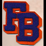 FB Block Logo Blue Orange Patch