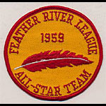 Feather River League Baseball 1959 All-Star Team Patch