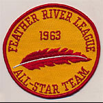 Feather River League Baseball 1963 All-Star Team Patch