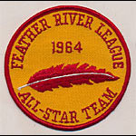 Feather River League Baseball 1964 All-Star Team Patch