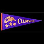 Clemson University Tigers Football Pennant