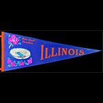1964 University of Illinois Rose Bowl Champions Football Pennant