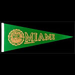 University of Miami Hurricanes Pennant