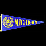 University of Michigan Football Pennant