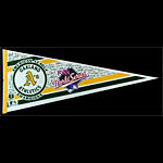 Oakland A's 1988 World Series Signature Baseball Pennant