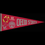Ohio State University Buckeyes 1969 Rose Bowl Champions Football Pennant