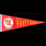 San Francisco 49ers Super Bowl XVI Champions Pennant