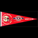 San Francisco 49ers Super Bowl XIX 1985 Pennant