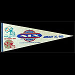 Super Bowl XIX 1985 San Francisco 49ers vs Miami Dolphins at Stanford University Football Pennant