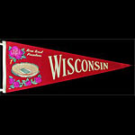 1960/1963 University of Wisconsin Rose Bowl Football Pennant