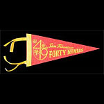 San Francisco 49ers Football Pennant
