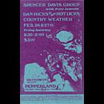 Spencer Davis Dan Hicks Pepperland Handbill