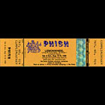 Phish Lemonwheel Unused Ticket