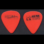 L.A. Guns Tracii Guns Cocked and Loaded Tour Red Guitar Pick