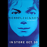 Michael Jackson Invincible Blue Promo Poster