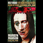 Marilyn Manson Holy Wood Album Release A.P. Promo Poster