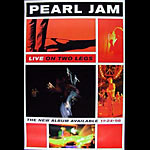 Pearl Jam Live 1998 Promo Poster