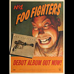 Foo Fighters Debut Album Capitol Records Promo Poster