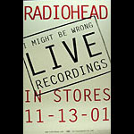 Radiohead I Might Be Wrong Live Promo Poster