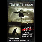 Tom Waits Oakland Concert Street Poster