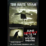 Tom Waits Wiltern Concert Street Poster