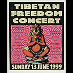 Steve Walters (Screwball Press) Tibetan Freedom Concert Poster