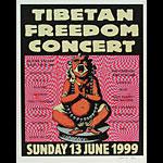 Steve Walters (Screwball Press) Tibetan Freedom Concert Poster