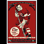 Scrojo Aspen vs Detroit Redwings Alumni Hockey Match Poster