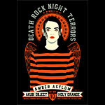 Scrojo Deathrock Night Terrors featuring Amber Asylum Poster