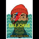 Scrojo Seu Jorge presents A Life Aquatic - David Bowie Tribute Poster