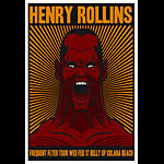 Scrojo Henry Rollins Frequent Flyer Tour Poster