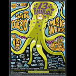 Scrojo San Diego Music Awards Poster
