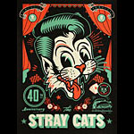 Scrojo The Stray Cats 40th Anniversary Poster