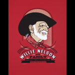 Scrojo Willie Nelson and Family Poster