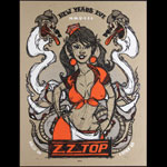 Scrojo ZZ Top New Years Eve 2007  Poster