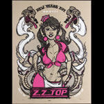 Scrojo ZZ Top New Years Eve 2007 Color Variant Poster