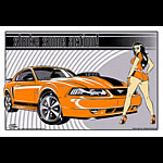 Stainboy Shake Some Action Orange Mustang Mach 1 Poster