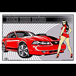 Stainboy Shake Some Action Red Mustang Mach 1 Poster