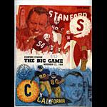 1969 Stanford vs Cal Big Game College Football Program