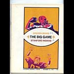 1970 Stanford vs Cal Big Game College Football Program