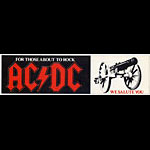 AC/DC For Those About To Rock Vintage Bumper Sticker