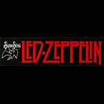 Vintage Led Zeppelin Swan Song Bumper Sticker