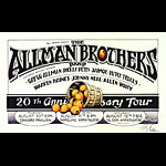 Randy Tuten Allman Brothers 20th Anniversary Tour Poster - signed