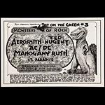 Randy Tuten Bill Graham Presents Day on the Green #3 1979 - Monsters of Rock - Aerosmith Poster