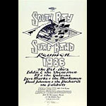 Randy Tuten and Rick Griffin South Bay Surf Band Reunion Poster - signed