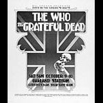Randy Tuten Day On The Green 8 & 9 - Grateful Dead The Who Poster - signed
