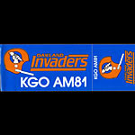 Oakland Invaders 1983 KGO/810 AM Radio USFL Football Bumper Sticker