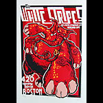 James Decker and Jeff Wood  Drowning Creek White Stripes Orpheum Theatre Silkscreen Poster