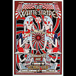 Dennis Loren Killer White Stripes Egyptian Motif Poster